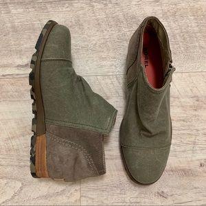 Sorel Major Low Ankle Bootie Camo Sole, 7.5
